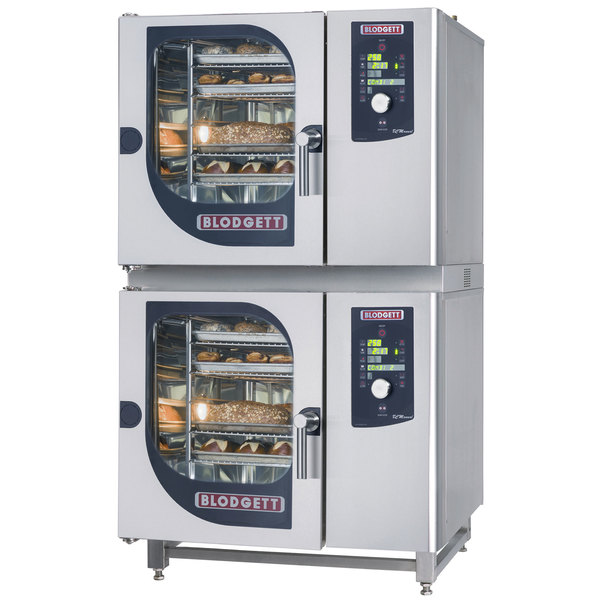 Blodgett BLCM-61-61E Double Boilerless Electric Combi Oven with Dial Controls - 480V, 3 Phase, 9 kW / 9 kW Main Image 1