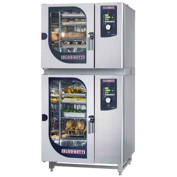 Blodgett BLCM-61-101E Double Boilerless Electric Combi Oven with Dial Controls - 208V, 3 Phase, 18 kW / 9 kW