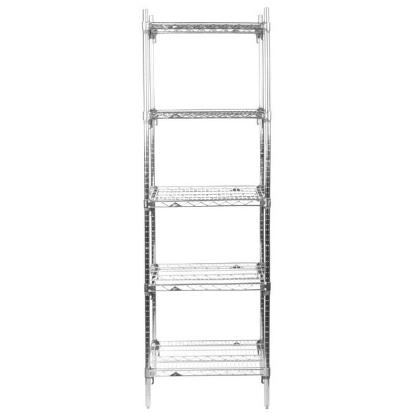 5A517C Stationary Super Erecta Adjustable 2 Series Chrome Wire ...