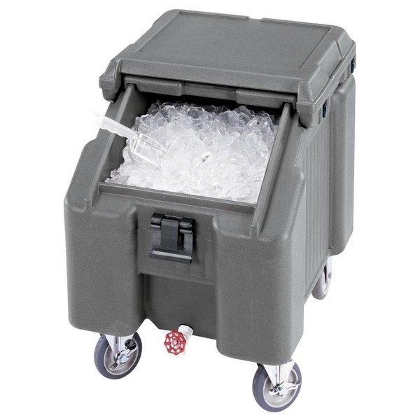 Cambro ICS100L4S191 SlidingLid™ Granite Gray Portable Ice Bin - 100 lb. Capacity