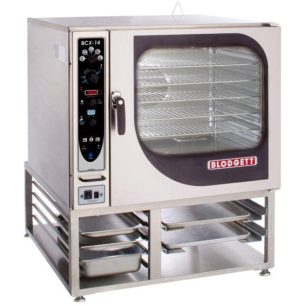 Blodgett BCX-14G-LP Liquid Propane Single Full Size Combi Oven with Manual Controls - 115,000 BTU