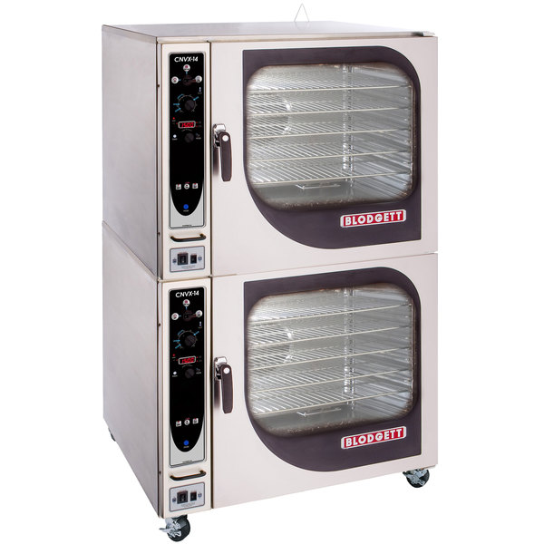 Blodgett CNVX-14E-240/3 Double Full Size Electric Convection Oven with Manual Controls - 240V, 3 Phase, 38 kW