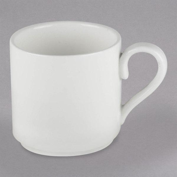 10 Strawberry Street RPM-428 Ricard Porcelain 3 oz. White Espresso Cup - 12/Case