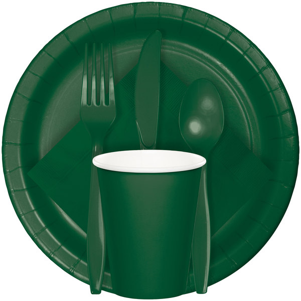 24 Emerald Green Heavyweight Forks Touch of Color Christmas Birthday Parties
