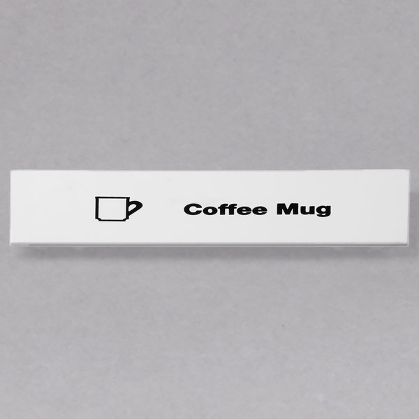 Cambro CECCM6000 Camrack Coffee Mug Extender ID Clip - 6/Pack