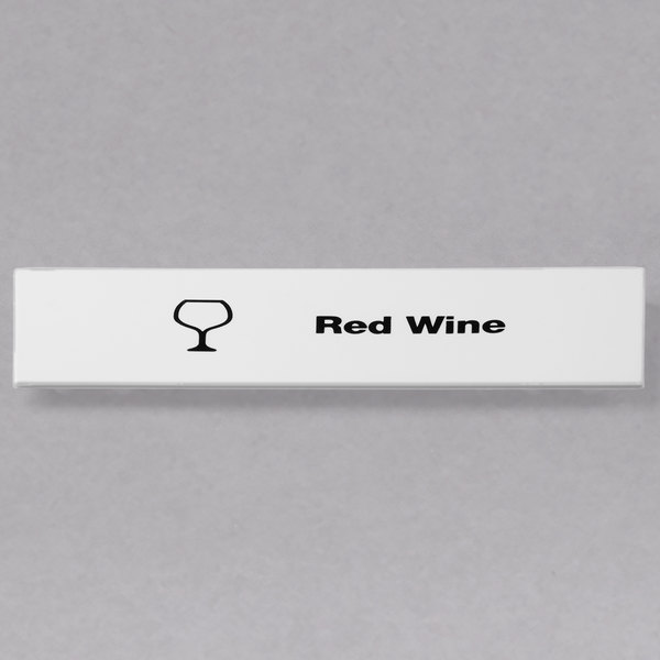 Cambro CECRW6000 Camrack Red Wine Extender ID Clip - 6/Pack