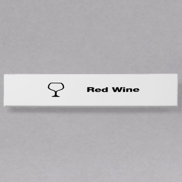 Cambro CECRW6000 Camrack Red Wine Extender ID Clip - 6/Pack Main Image 1
