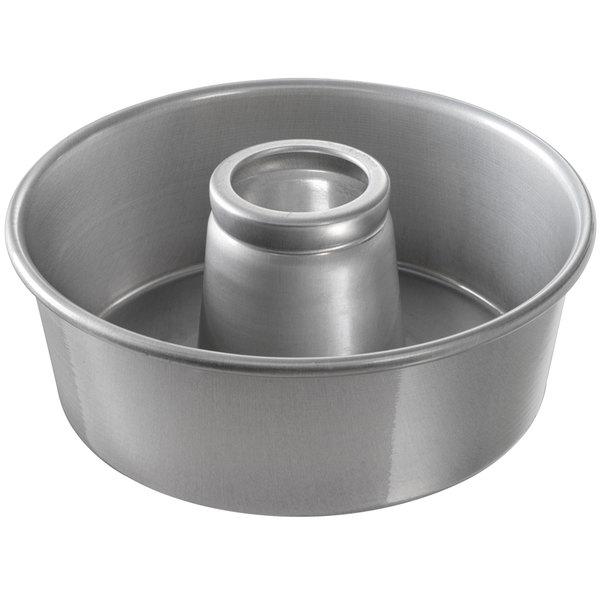 "Chicago Metallic 46560 10"" Aluminum Customizable Angel Food Cake Pan - 3 3/4"" Deep"