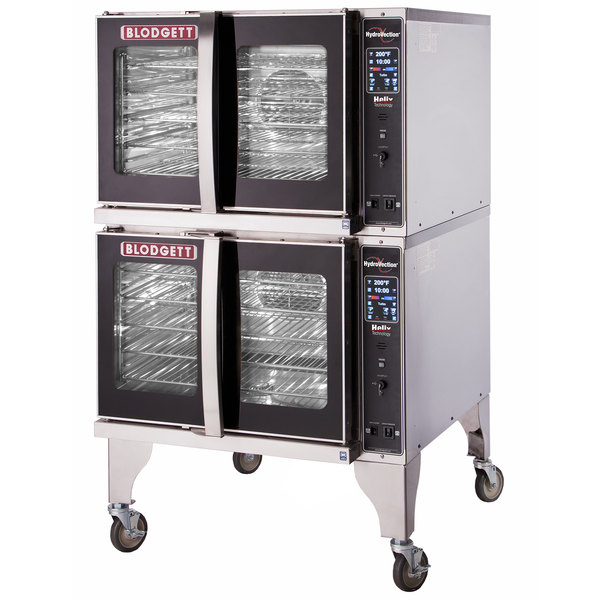 Blodgett HVH-100G-NAT Natural Gas Double Deck Full Size Hydrovection Oven with Helix Technology - 120,000 BTU