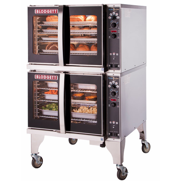 Blodgett HV-100E-480/3 Double Deck Full Size Electric Hydrovection Oven - 480V, 3 Phase, 30 kW