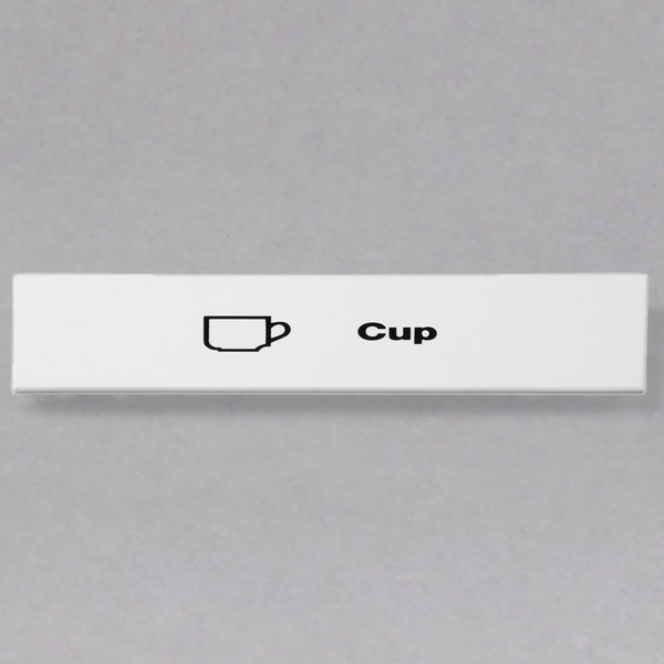 Cambro CECCP6000 Camrack Cup Extender ID Clip - 6/Pack