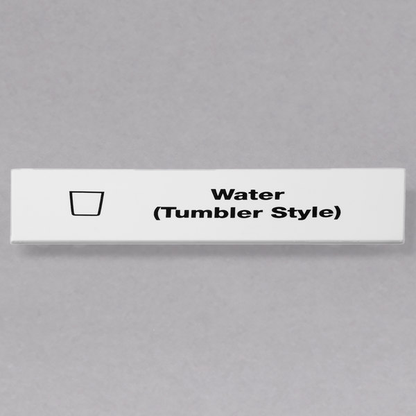 Cambro CECWT6000 Camrack Water (Tumbler Style) Extender ID Clip - 6/Pack Main Image 1