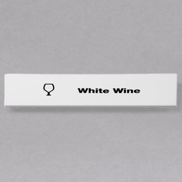 Cambro CECWW6000 Camrack White Wine Extender ID Clip - 6/Pack Main Image 1