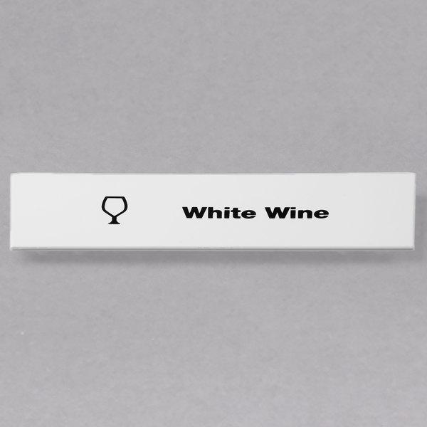 Cambro CECWW6000 Camrack White Wine Extender ID Clip - 6/Pack