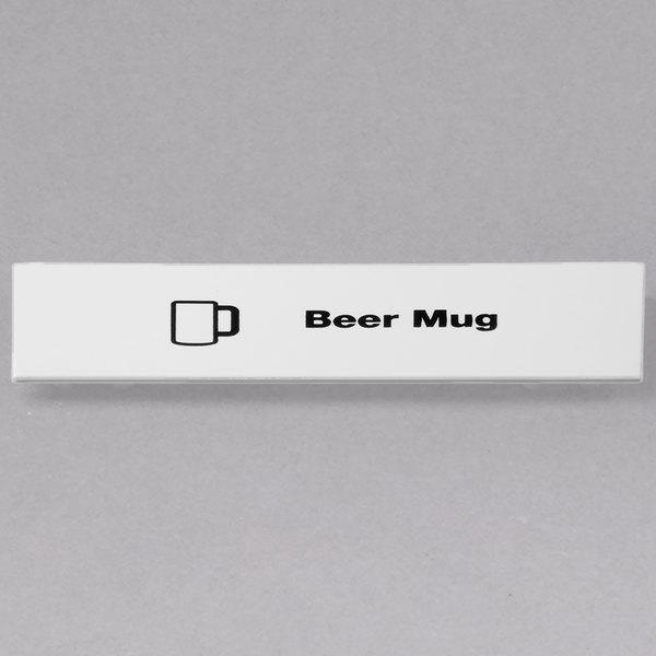 Cambro CECBM6000 Camrack Beer Mug Extender ID Clip - 6/Pack Main Image 1