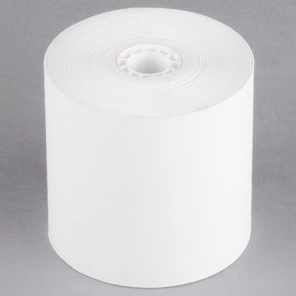 "3 1/4"" x 240' Traditional Cash Register POS Paper Roll Tape - 48/Case"
