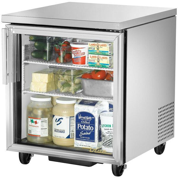 True TUC-27G-LD 27 inch Undercounter Refrigerator with Glass Door