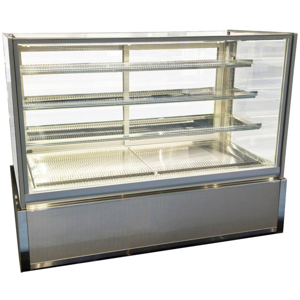 "Federal Industries ITD4826-B18 Italian Series 48"" Dry Bakery Display Case - 15.4 cu. ft."
