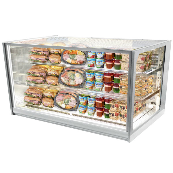"Federal Industries ITR4834 Italian Series 48"" Drop-In Refrigerated Bakery Display Case - 21 cu. ft."