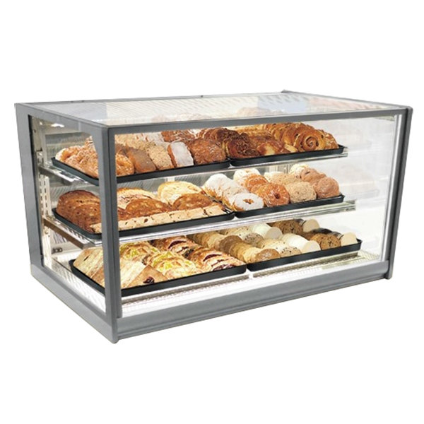 "Federal Industries ITD6034 Italian Series 60"" Countertop Dry Bakery Display Case - 26 cu. ft. Main Image 1"
