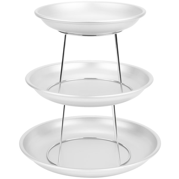 American Metalcraft 3 Tier Seafood Tower Set With Small Aluminum