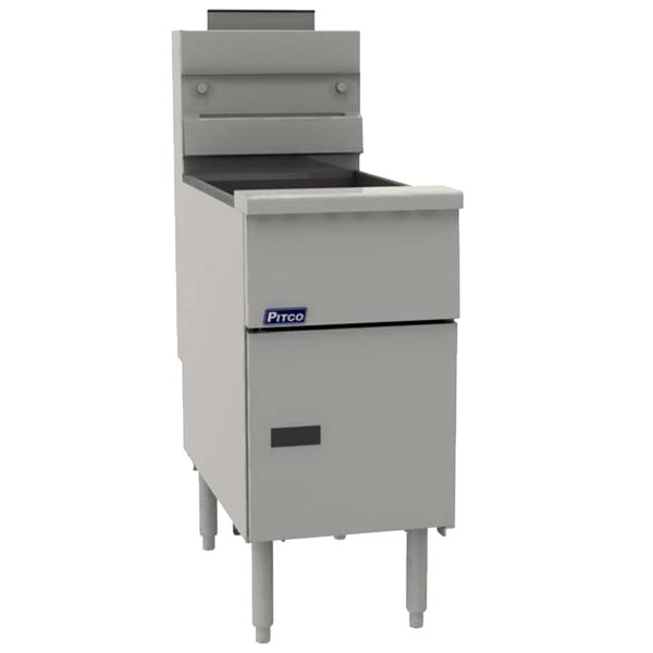 Pitco® VF-35S-NAT Natural Gas Solstice 35 lb. Stainless Steel Floor Fryer - 70,000 BTU