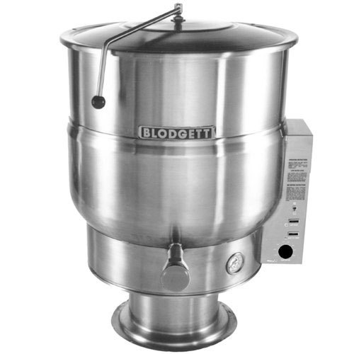 Blodgett KPS-25E208/1 25 Gallon Stationary Pedestal Base Steam Jacketed Electric Kettle - 208V, 1 Phase, 12 kW
