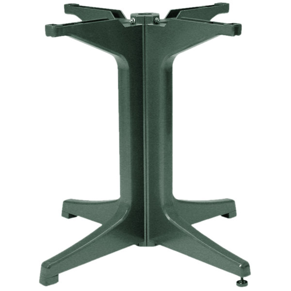 Grosfillex US624278 2000 Amazon Green Resin Pedestal Outdoor Table Base Main Image 1
