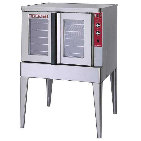 Blodgett ZEPHAIRE-200-E-208/1 Single Deck Full Size Bakery Depth Roll-In Electric Convection Oven - 208V, 1 Phase, 11 kW Main Image 1