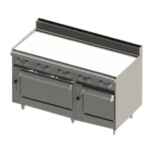 """Blodgett BR-60GT-2436-NAT Natural Gas 60"""" Thermostatic Range with Griddle Top and Double Oven Base - 180,000 BTU"""
