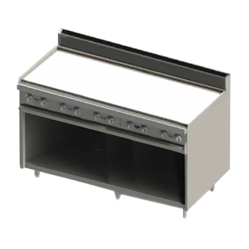 """Blodgett BR-60GT-NAT Natural Gas 60"""" Thermostatic Range with Griddle Top and Cabinet Base - 120,000 BTU"""