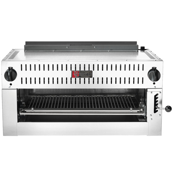 "Wolf C36IRB-N Natural Gas 36"" Infrared Salamander Broiler - 30,000 BTU"