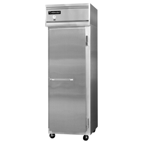 "Continental Refrigerator 1F-LT-SA-HD 26"" Solid Half Door Low Temperature Reach-In Freezer - 20 Cu. Ft."