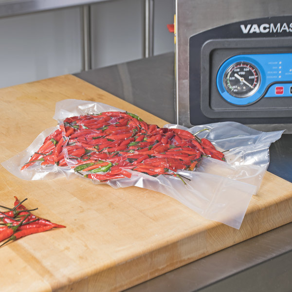 """ARY Vacmaster 40796 12"""" x 16"""" Cook-In Chamber Re-Therm Vacuum Packaging Pouches / Bags for Sous Vide Cooking 4 Mil - 500/Case"""