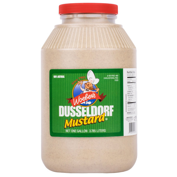 Woeber's 1 Gallon Dusseldorf Mustard - 4/Case