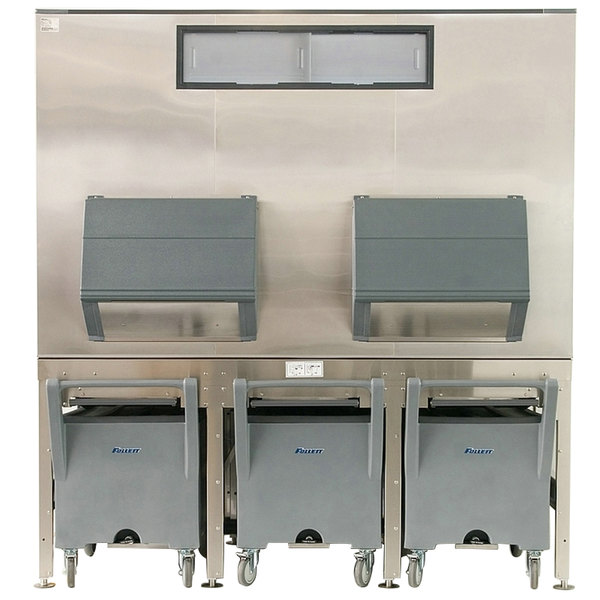 """Follett ITS1700SG-90 ITS Series 90"""" Ice Storage and Transport System with 3 Transport Carts - 1716 lb."""