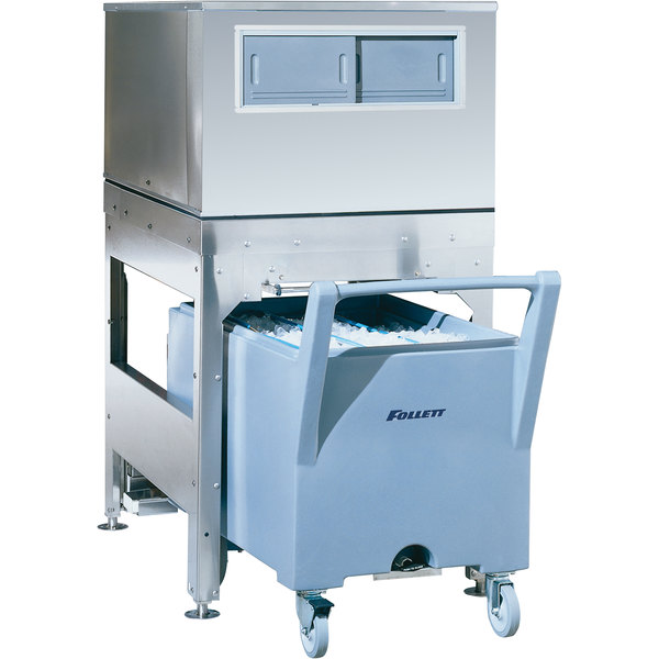 "Follett ITS500NS-31 ITS Series 31"" Ice Storage and Transport System with Transport Cart - 382 lb. Main Image 1"
