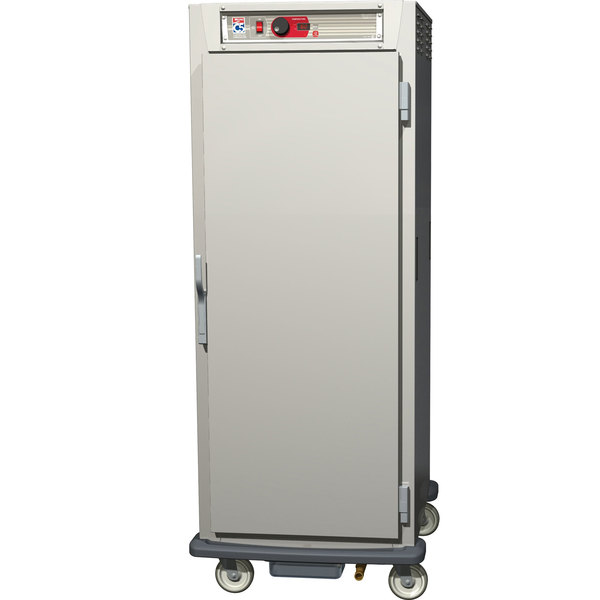 Metro C589-SFS-LPFC C5 8 Series Reach-In Pass-Through Heated Holding Cabinet - Full Solid / Full Clear Doors