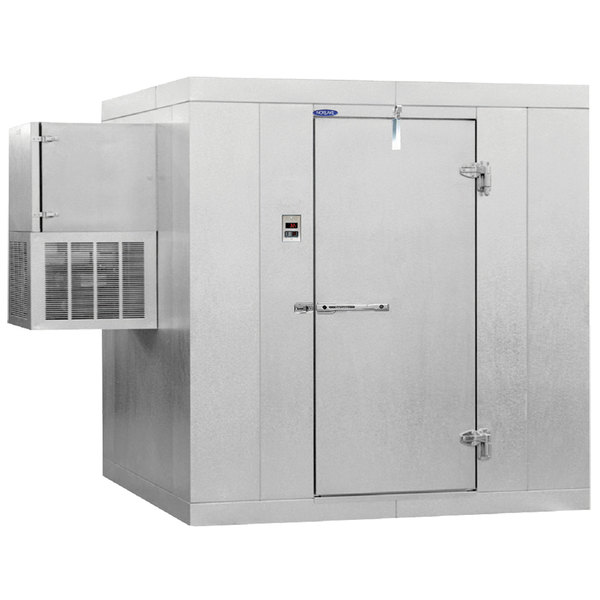 """Right Hinged Door Nor-Lake KLF610-W Kold Locker 6' x 10' x 6' 7"""" Indoor Walk-In Freezer"""