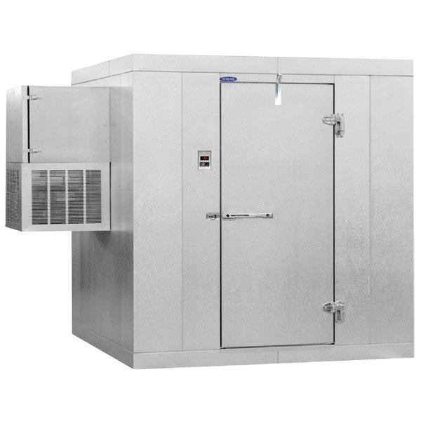 """Right Hinged Door Nor-Lake KLB66-W Kold Locker 6' x 6' x 6' 7"""" Indoor Walk-In Cooler"""