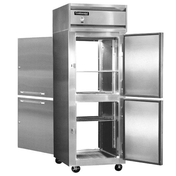 "Continental Refrigerator 1FX-SA-PT-HD 36 1/4"" Half Door Extra Wide Pass-Through Freezer - 30 Cu. Ft."