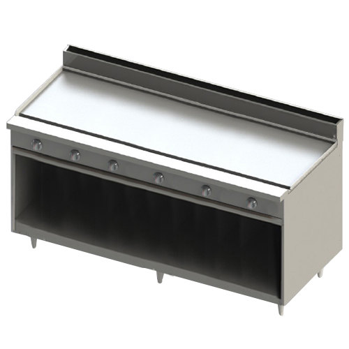 """Blodgett BR-72GT-LP Liquid Propane 72"""" Thermostatic Range with Griddle Top and Cabinet Base - 144,000 BTU"""