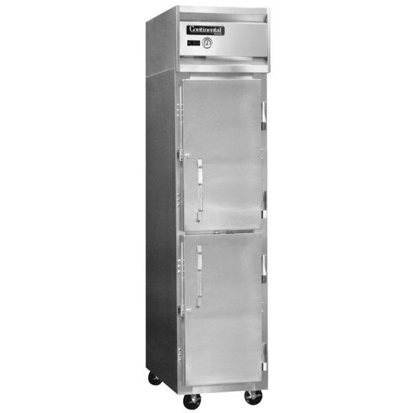 """Continental Refrigerator 1RSE-HD 18"""" Half Door Narrow Reach-In Refrigerator - 15 Cu. Ft."""