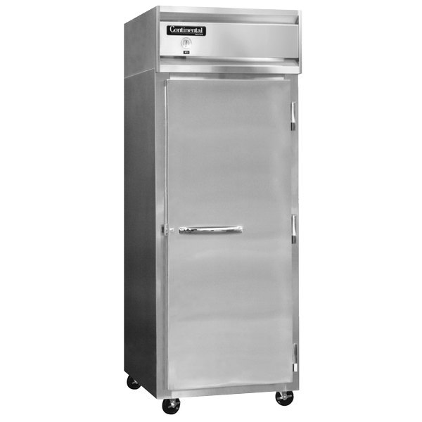 """Continental Refrigerator 1RXS-SA 36 1/4"""" Solid Door Extra-Wide Shallow Depth Reach-In Refrigerator - 26 cu. ft."""