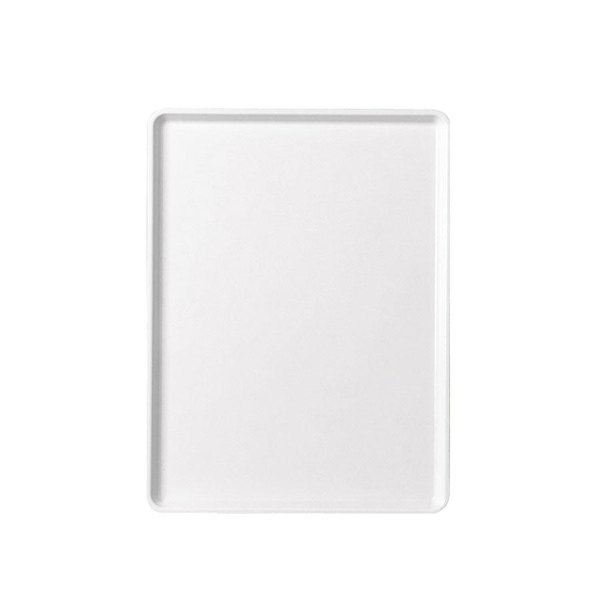 """Cambro 1520D531 15"""" x 20"""" Galaxy Antique Parchment Silver Patterned Dietary Tray - 12/Case"""