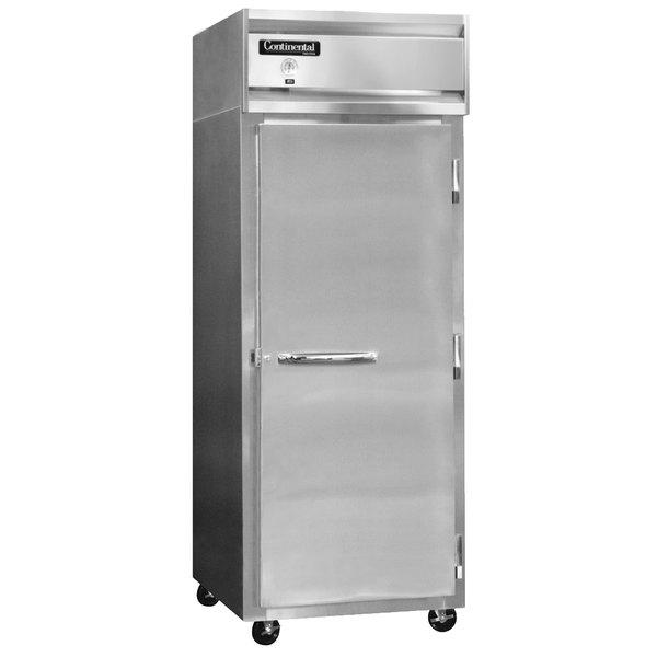 "Continental Refrigerator 1RX-SS 36 1/4"" Solid Door Extra-Wide Reach-In Refrigerator - 30 cu. ft."