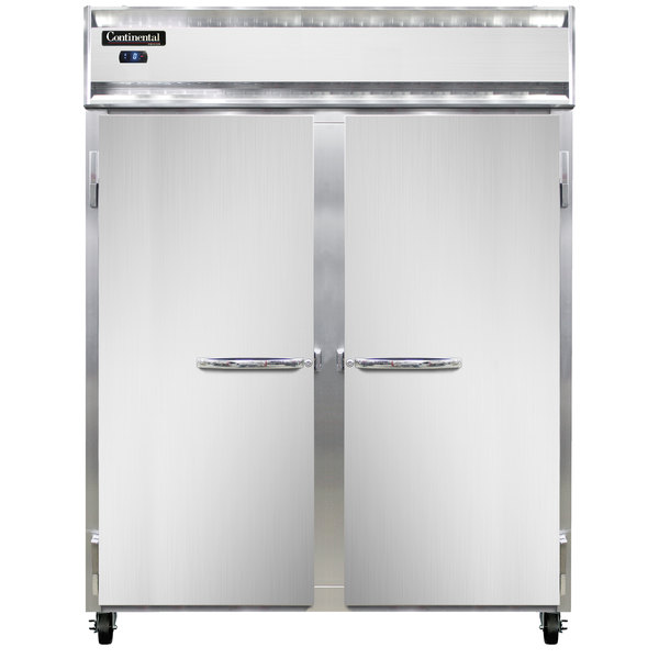 """Continental Refrigerator 2FES-SA 57"""" Solid Door Extra Wide Shallow Depth Reach-In Freezer - 40 Cu. Ft."""