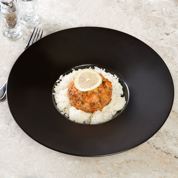 Chef & Sommelier S0782 Savor 10 oz. Black Specialty Deep Plate by Arc Cardinal - 12/Case