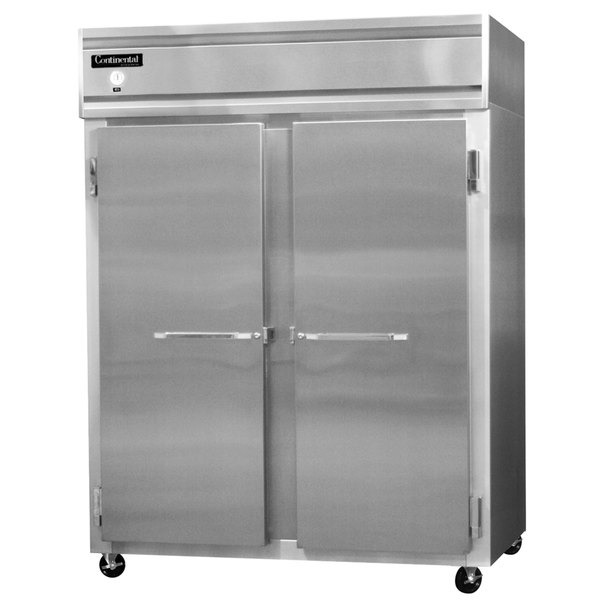 "Continental Refrigerator 2FE-SS 57"" Solid Door Extra Wide Reach-In Freezer - 50 Cu. Ft."