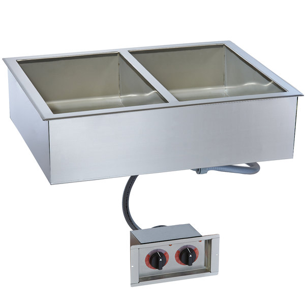 """Alto-Shaam 200-HW/D6 Two Pan Drop In Hot Food Well for 6"""" Deep Pans - 120V"""